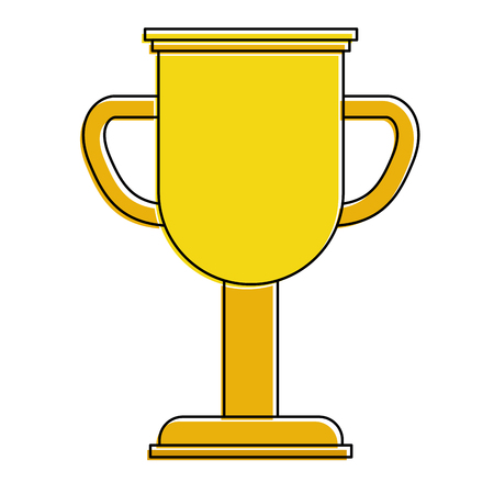 Trophy cup winner icon illustration design.