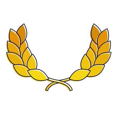 Wreath leafs crown award illustration design. Illustration
