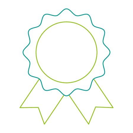 Seal with ribbon emblem illustration design. Illustration