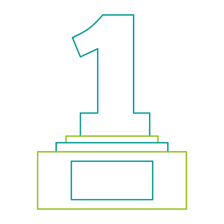 Number one trophy award illustration design. Stock fotó - 91870493