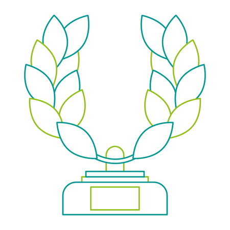 Trophy wreath leafs crown award illustration design. Illustration