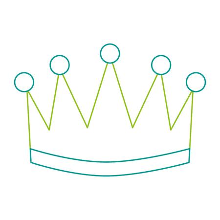 Winner crown isolated icon illustration design. Ilustração