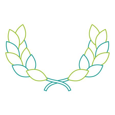 Wreath leafs crown award illustration design. 向量圖像