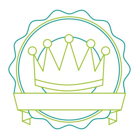 A winner crown emblem icon vector illustration design Illustration
