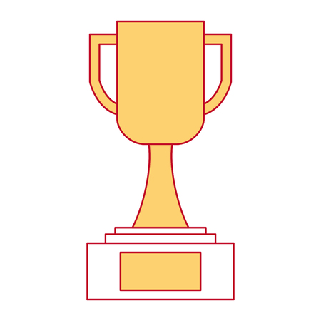 A trophy cup winner icon vector illustration design Иллюстрация