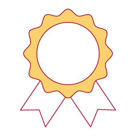 A seal with ribbon emblem vector illustration design Stok Fotoğraf - 91933786