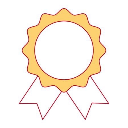 Ein Siegel mit Band Emblem Vektor Illustration Design