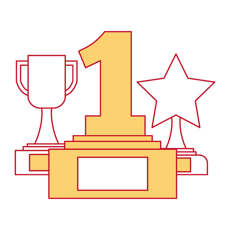 set trophies awards icon vector illustration design