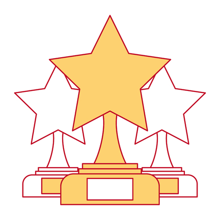 star trophies winner icon vector illustration design