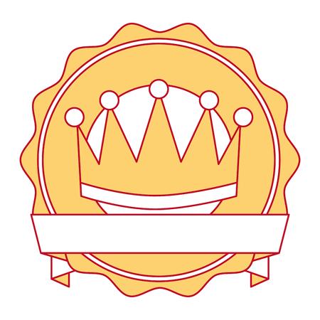 Ganador corona emblema icono vector ilustración diseño Foto de archivo - 91869618