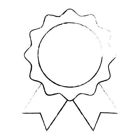 seal with ribbon emblem vector illustration design Vetores