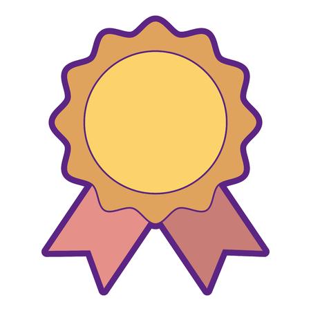 Seal with ribbon emblem illustration design. Vetores