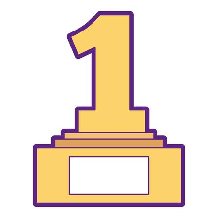 Number one trophy award illustration design. Illustration