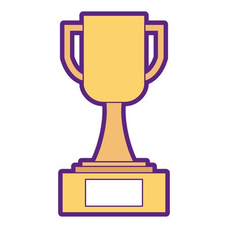 Trophy cup winner icon illustration design.