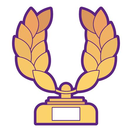 Trophy wreath leafs crown award illustration design. Çizim