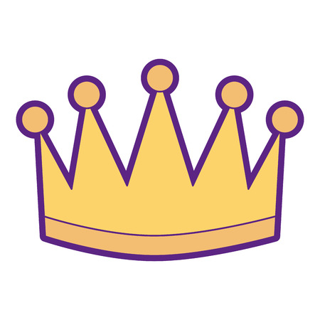 Winner crown isolated icon illustration design. Vettoriali
