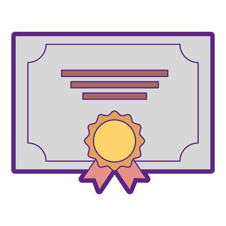 메달 그림 디자인 우승자 졸업장입니다. 일러스트