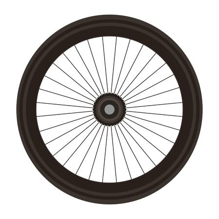 Bike wheel isolated icon vector illustration design