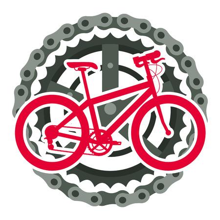 Sport bicycle with chain and sprocket vector illustration design Illusztráció