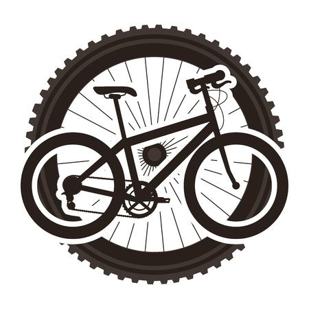 Sport bicycle with wheel  illustration design. Illusztráció