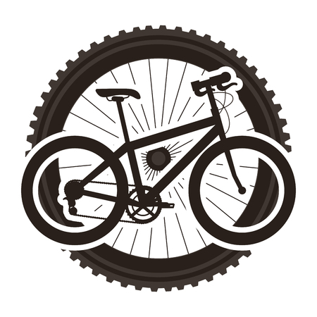 Sport bicycle with wheel  illustration design. Illustration