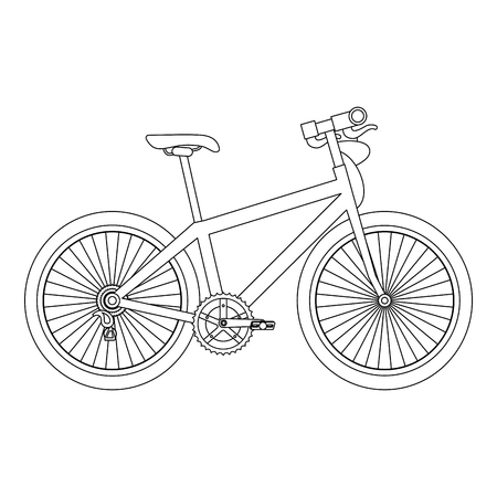 Sport bicycle isolated icon vector illustration design Illustration
