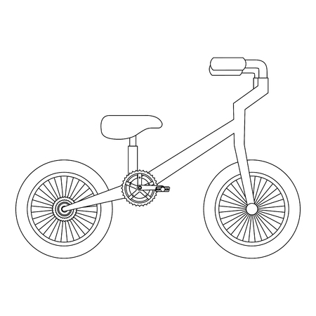 Mountain bicycle isolated icon vector illustration design