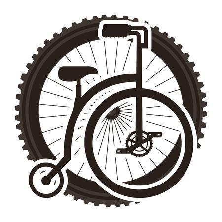 Bicicleta retrô com design ilustração vetorial de roda Foto de archivo - 91856043