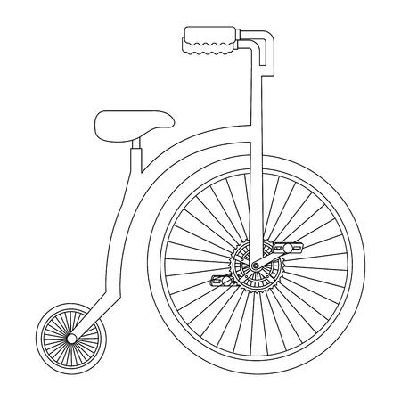 Bicicleta retrô isolado ícone vector ilustração design Foto de archivo - 91856049