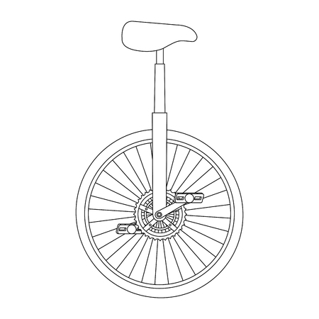 モノサイクルレース分離アイコンベクトルイラストデザイン  イラスト・ベクター素材