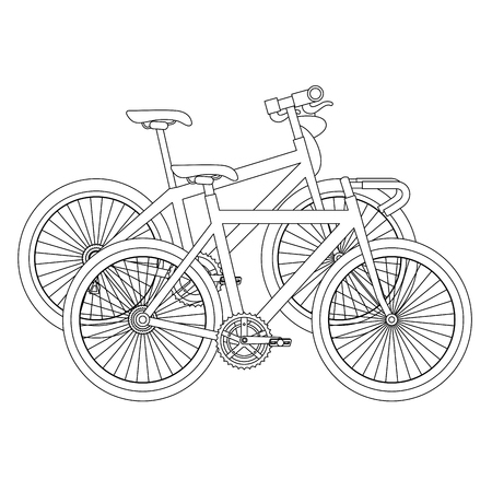 Racing bicycles isolated icons vector illustration design
