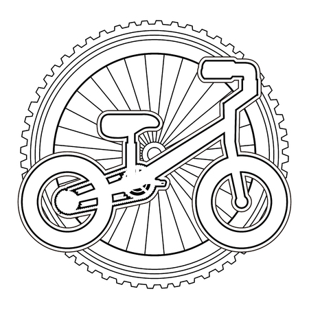 A mountain bicycle with wheel vector illustration design Illustration