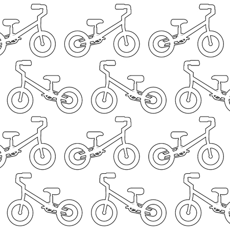 Mountain bicycle pattern background vector illustration design Illustration