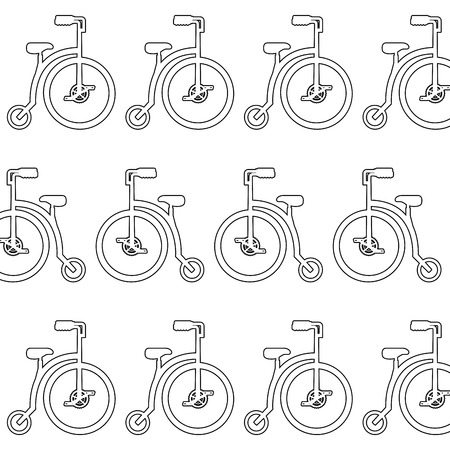Retro bicycle pattern background vector illustration design