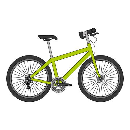スポーツ自転車分離アイコンベクトルイラストデザイン  イラスト・ベクター素材