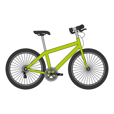 Sport bicycle isolated icon vector illustration design Vettoriali