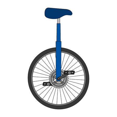 一輪車レース分離アイコンベクトルイラストデザイン  イラスト・ベクター素材