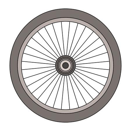 bike wheel isolated icon vector illustration design Illustration