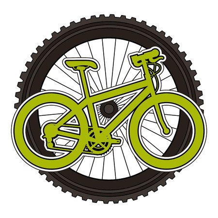 sport bicycle with wheel vector illustration design