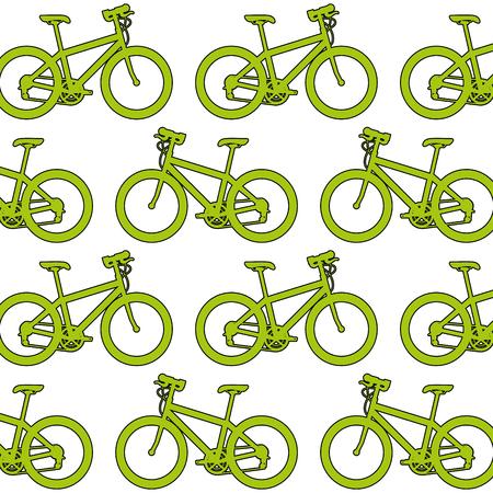 sport bicycle pattern background vector illustration design