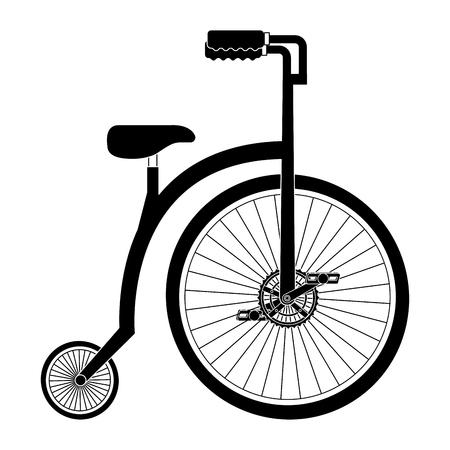 Diseño retro aislado de la ilustración del vector del icono de la bicicleta Foto de archivo - 91865350