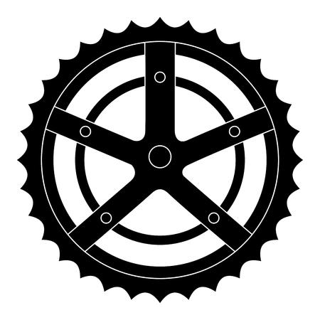 自転車スプロケット分離アイコンベクトルイラストデザイン