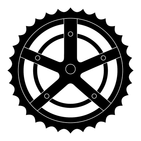 bicycle sprocket isolated icon vector illustration design Vettoriali