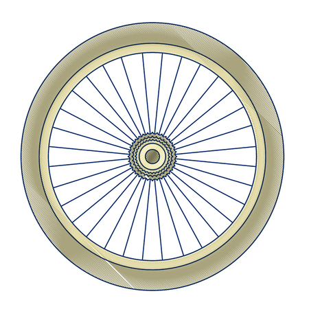 bike wheel isolated icon vector illustration design Illusztráció
