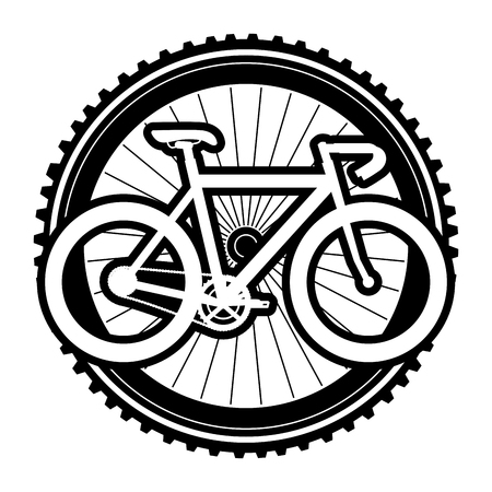 A racing bicycle with wheel vector illustration design