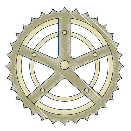 A bicycle sprocket isolated icon vector illustration design