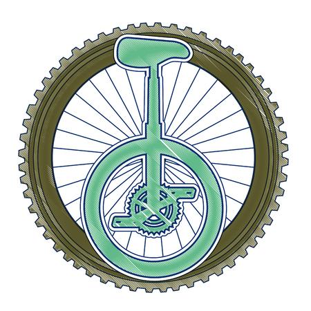 Course de monocycle avec design d'illustration vectorielle roue Banque d'images - 91895514