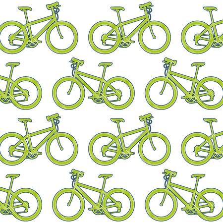 A sport bicycle pattern background vector illustration design Illustration