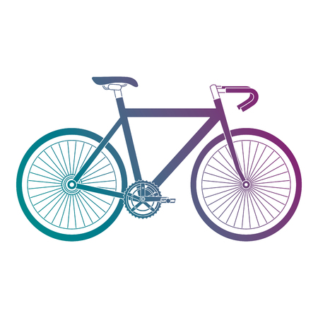 A racing bicycle isolated icon vector illustration design Illustration