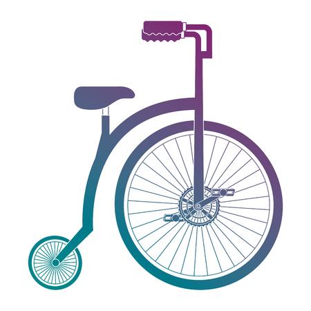 Una progettazione dell'illustrazione di vettore dell'icona isolata retro bicicletta Archivio Fotografico - 91938491